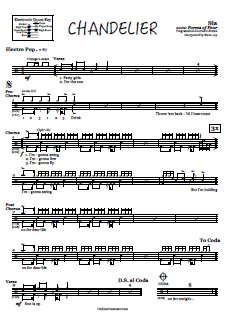 sia chandelier piano sheet music pdf