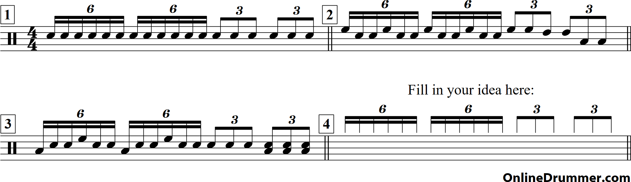 Drum Fill #13 - 6 to 3