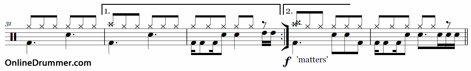 Nothing Else Matters - Drum Fill Concept