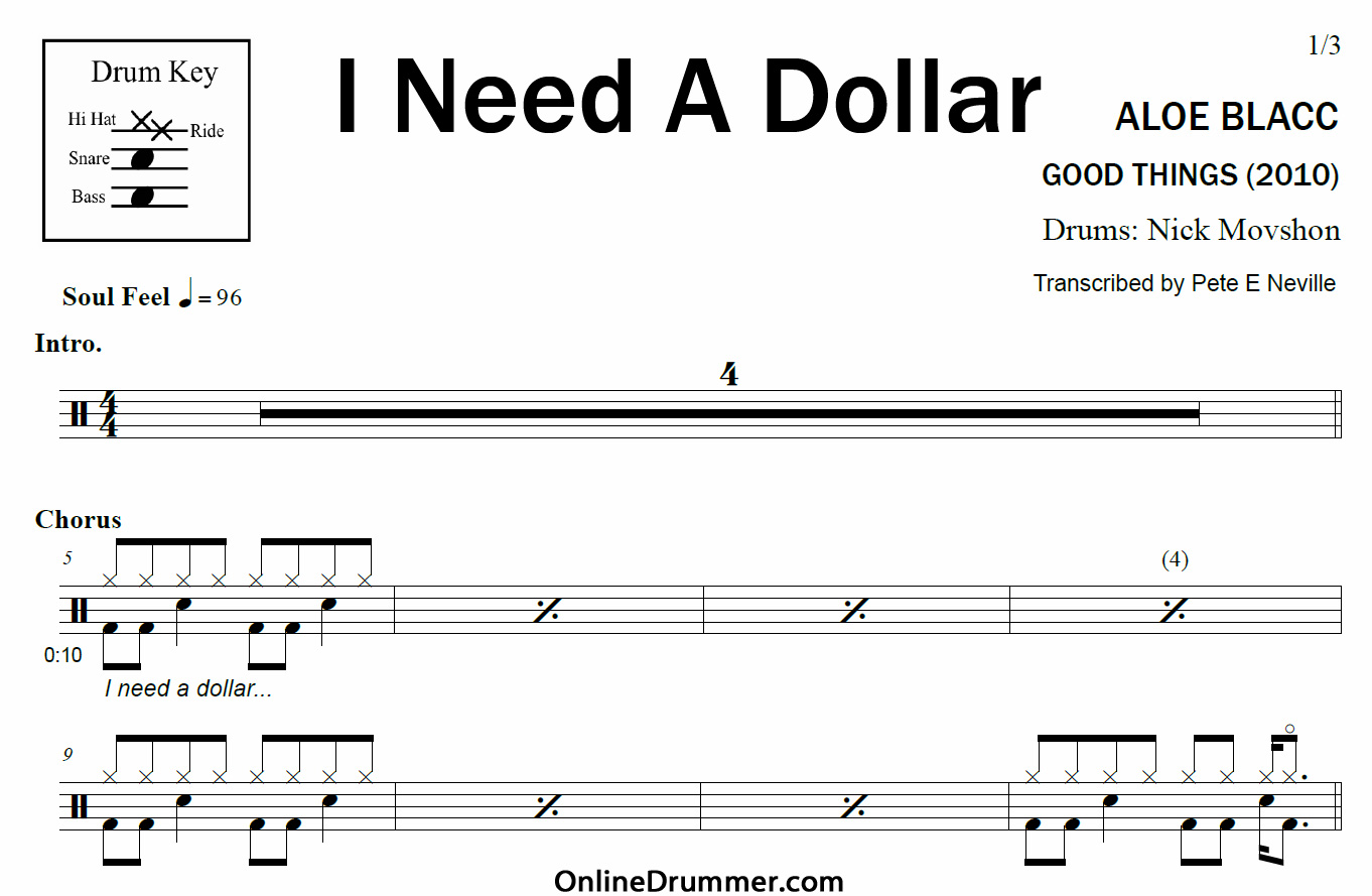 aloe blacc i need a dollar скачать