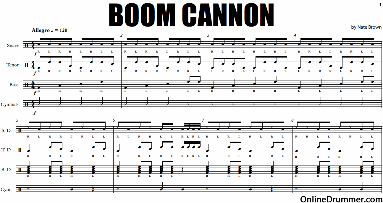 Boom Cannon - Drumline Cadence