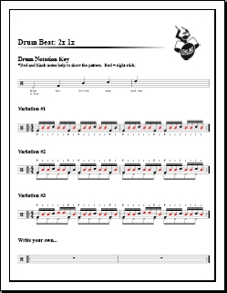 2x 1x Drum Lesson – Hand Pattern Idea