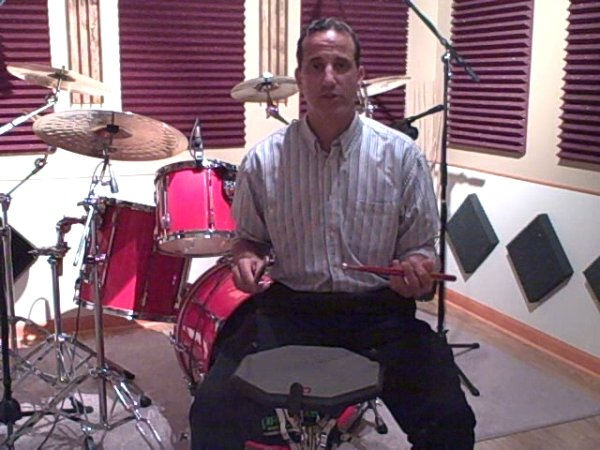 Drummer Todd Walker Pad Warm-up (Singles/Diddles/Buzz)