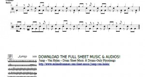 Jump – Van Halen – Guitar Solo On Drums Sheet
