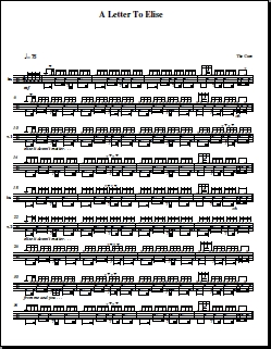 Letter To Elise – The Cure – Drum Sheet Music | OnlineDrummer ...