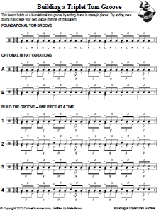 Building A Triplet Tom Groove – Sheet Music