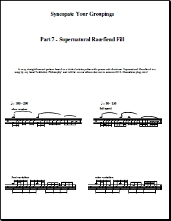 Syncopate Your Groupings – Part 7 – Supernatural Racefiend Drum Fill