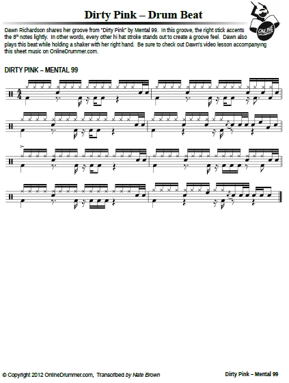 Dirty Pink – Sheet Music