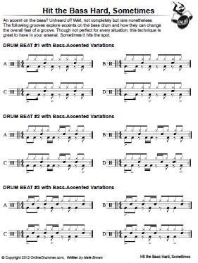 Hit The Bass Hard Sometimes – Sheet Music
