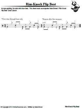 Rim Knock Flip Beat- Sheet Music