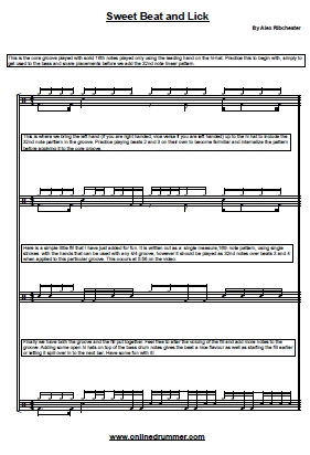 Sweet Beat and Lick – Sheet Music