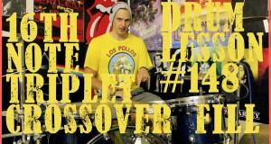 16th Note Triplet Crossover Drum Fill Idea